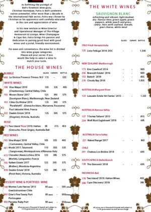 The Village - Wine Menu - 01